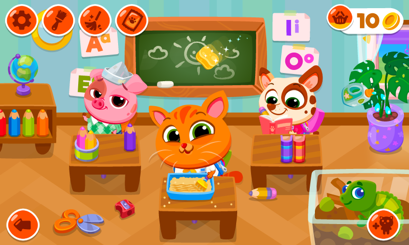 Bubbu School – My Cute Pets Android App Screenshot
