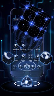 3D Tech Neon Cube Theme 1.1.6 MOD for Android 1