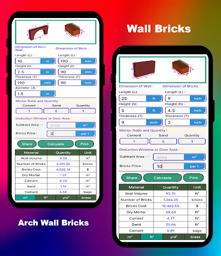 Civil Calculation PRO screen 2