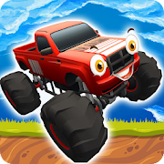 Monster Trucks Up hill Racing - Free Fun Kids Game