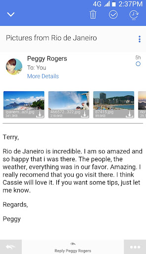 TypeApp mail - email app android2mod screenshots 2