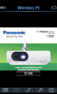 Panasonic Wireless Projector Screenshot