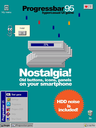 Progressbar95 - easy, nostalgic hyper-casual game Apkfinish screenshots 22