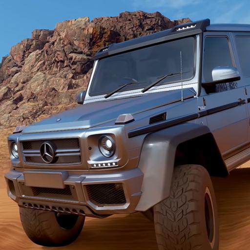 Offroad Jeep Driving Desert