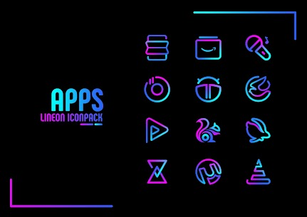 Lineon Icon Pack Pro Apk: LineX 2.7 (Patched) 3