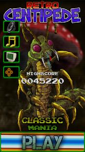 Retro Centipede 1.23 screenshots 1