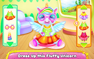Cute Little Unicorn Caring and Dress Up