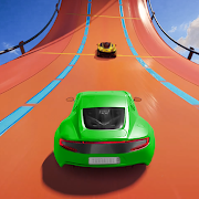 Superhero Mega Ramps: GT Racing Car Stunts Game