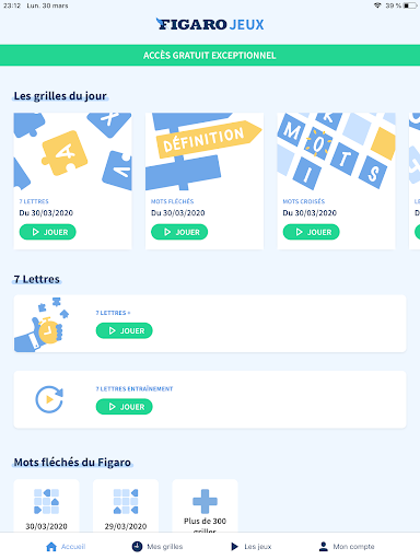 Figaro Jeux : mots croisu00e9s screenshots 9