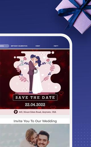 Digital Invitation Card Maker - Video eCards Apkfinish screenshots 7