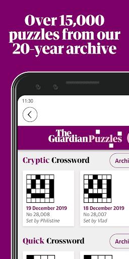 Guardian Puzzles & Crosswords 1.3.1 screenshots 1