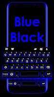 Blue Black Keyboard Theme