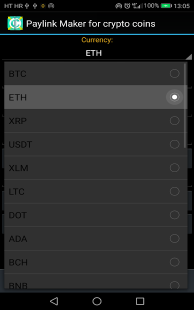PayLink Maker for crypto currency coins screenshot 14