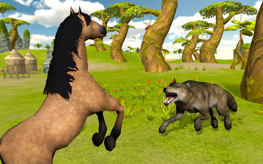 Ultimate Horse Simulator - Wild Horse Riding Game apkpoly screenshots 4