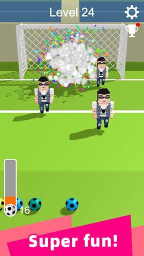 Straight Strike - 3D soccer shot game screenshots 5