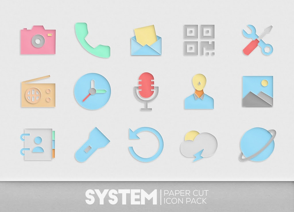Paper Cut Icon pack New  poster 7
