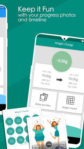 Weight Diary - Weight Loss Tracker, BMI, Body Fat 3.6.0.1 Screenshots 4