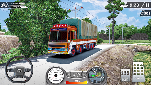 Real Mountain Cargo Truck Uphill Drive Simulator apktram screenshots 2