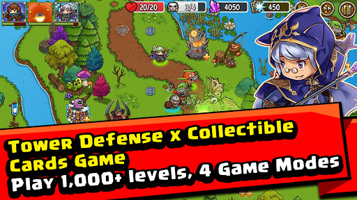 Crazy Defense Heroes: Tower Defense Strategy Game 2.4.0 screenshots 1