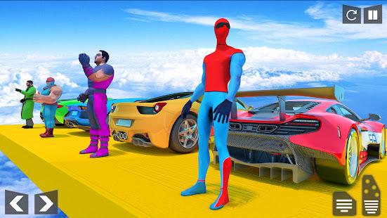 SuperHero Mega Ramp: Car Games 1.0.41 screenshots 2