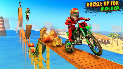 Beach Bike Stunts Game: Crazy Bike Stunts on Ramps apkmr screenshots 10