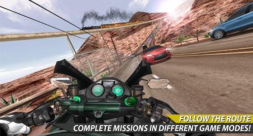 Moto Rider In Traffic apkpoly screenshots 6