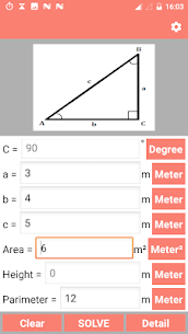 Right Angled Triangle Calculator and Solver – PRO v2.1 [Paid] 2