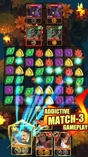 Télécharger gratuit Heroes of Elements:  Match 3 RPG Puzzles Battle APK MOD 1