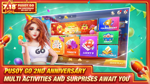Pusoy Go-Free Tongits, Color Game, 13 Cards, Poker android2mod screenshots 1