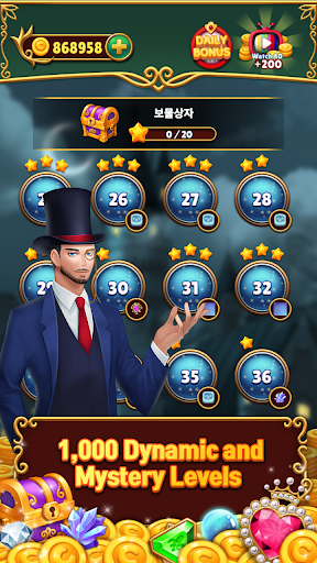 Jewels Mystery: Match 3 Puzzle apkslow screenshots 4