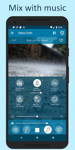 Relax Rain - Rain sounds: sleep and meditation android2mod screenshots 4