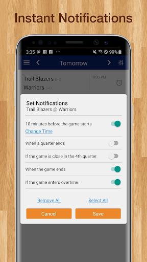 Basketball NBA Live Scores, Stats, & Schedules 9.2.1 Screenshots 4