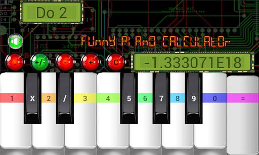 funny piano calculator screenshot 3