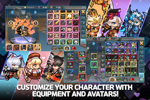 Raid the Dungeon : Idle RPG Heroes AFK or Tap Tap apkmr screenshots 4
