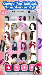 Hairstyle Camera Beauty : Hair Changer Photo Edit 1.2 Screenshots 5