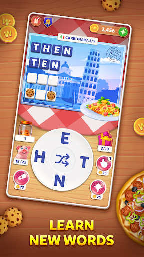 Wordelicious: Food & Travel - Word Puzzle Game 1.0.3 screenshots 2