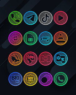 Lines Circle APK- Neon Icon Pack [PAID] Download for Android 10