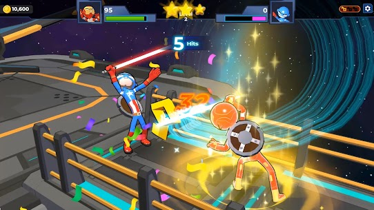 Supreme Saberman: Stickman Fight Space Invaders 7