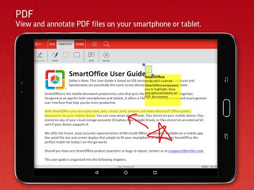 SmartOffice - View & Edit MS Office files & PDFs 3.9.10 Screenshots 16