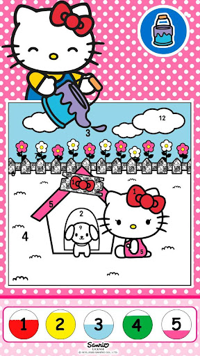 Hello Kitty Coloring Book 1.1.0 screenshots 8