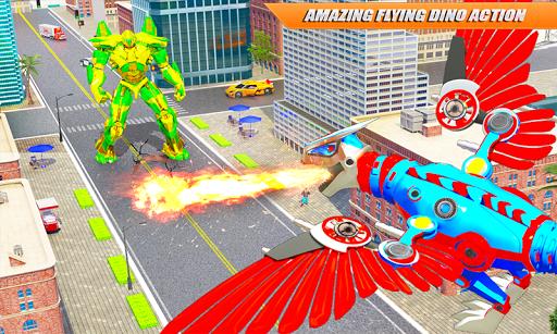 Flying Dino Transform Robot: Dinosaur Robot Games screenshots 3