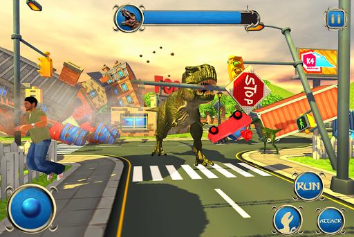 Wild Dino City Rampage: T-Rex Simulator apkmr screenshots 9