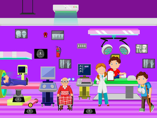 Télécharger Faire semblant à l'hôpital de la ville: jeu de la apk mod screenshots 4