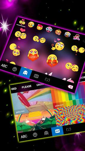 Neon Love Keyboard Theme 1.0 Screenshots 4