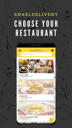 snaeldelivery - food delivery app screenshot 1