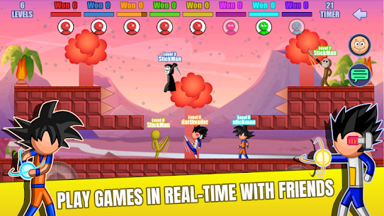 Stick Fight Online: Multiplayer Stickman Battle Mod Apk 2.0.36 (Unlimited Money) 2