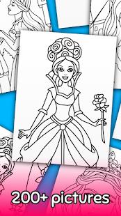 Princess Coloring Game 16.4.4 screenshots 3
