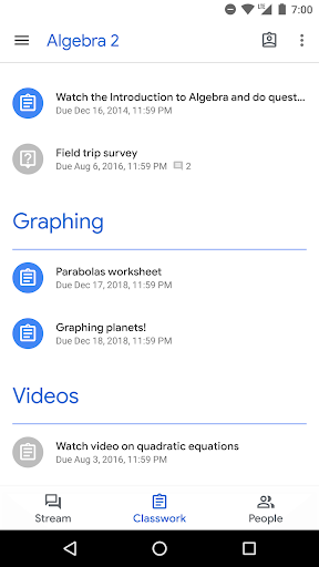 Google Classroom  screenshots 2