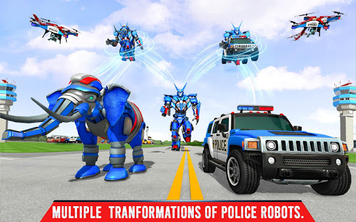 Police Elephant Robot Game: Police Transport Games 1.0.9 Screenshots 14