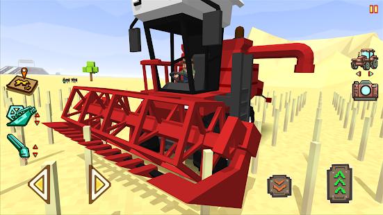 Blocky Farm Racing & Simulator - driving game  screenshots 1